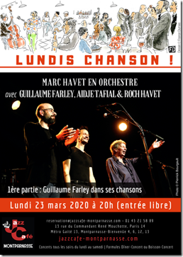 Lundis chanson au Jazz café Montparnasse-REPORTÉ